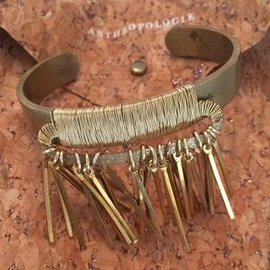 Anthropologie Brass Fringe bracelet